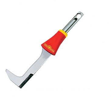 La lama zincata, in acciaio temperato, garantisce una lunga durata ed un taglio preciso