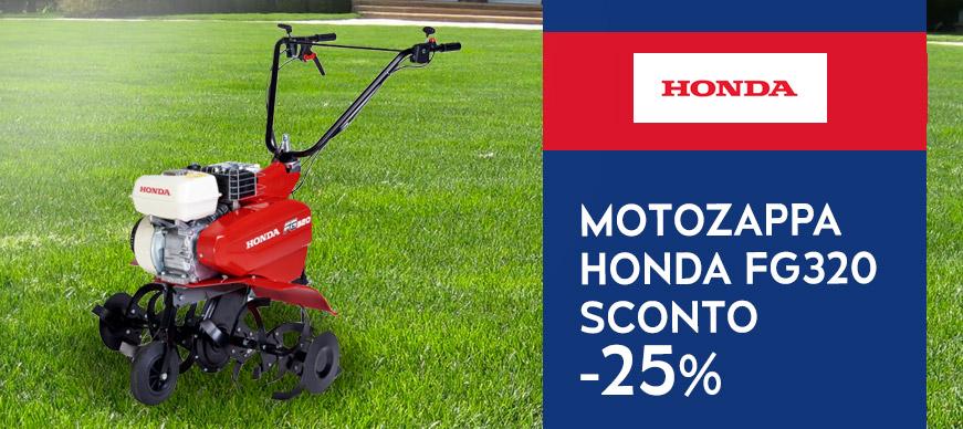 Allia Vincenzo, super Offerta Motozappa Honda FG320 con Sconto 25% prezzo  569\u20ac invece che 764\u20ac.