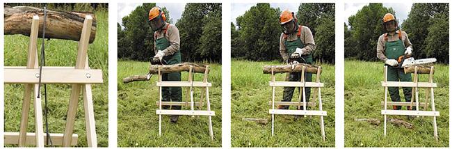 tagliare legna sul cavalletto