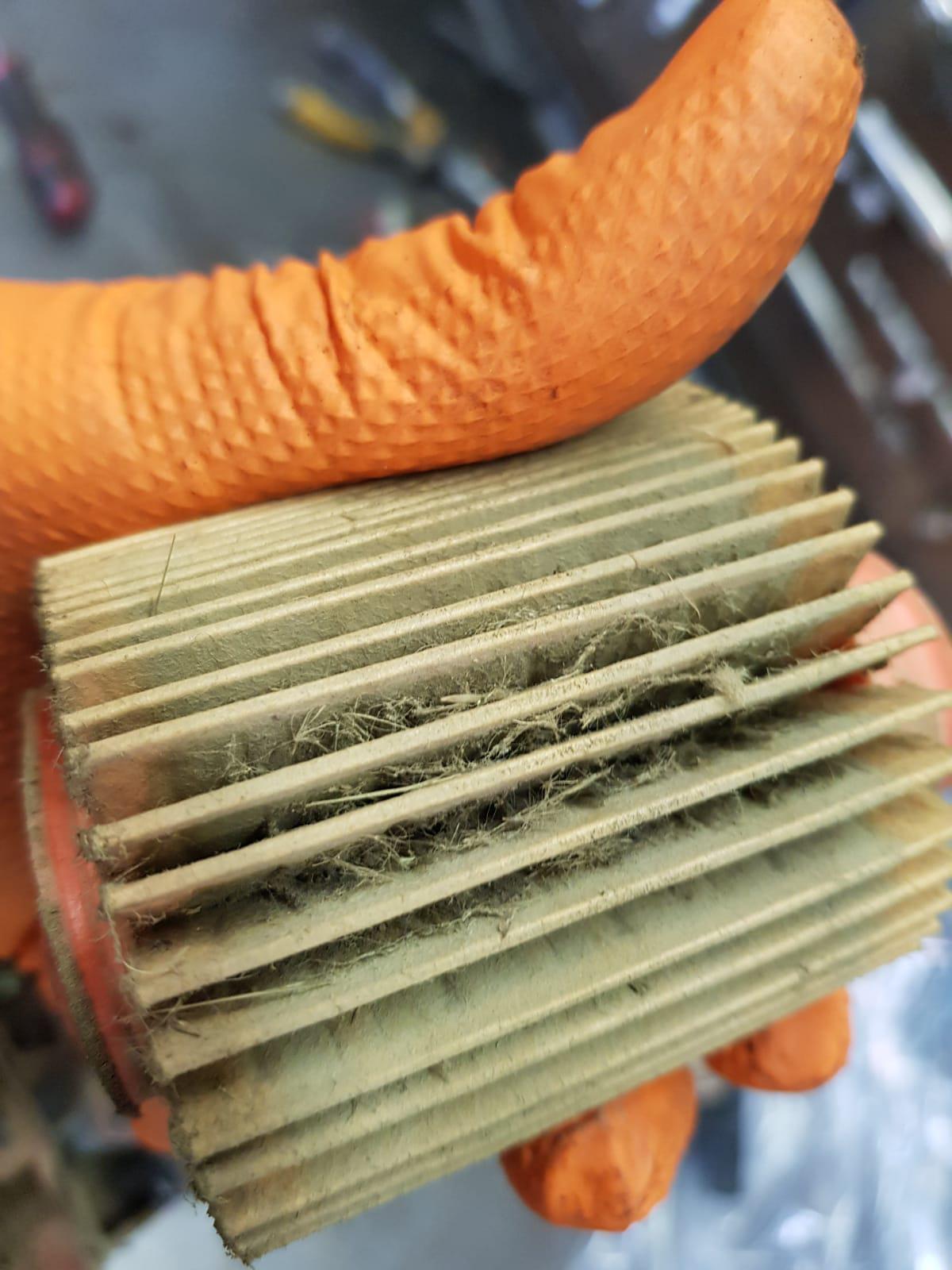 filtro aria decespugliatore sporco