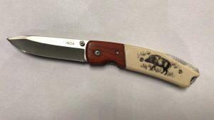 coltello con immagine cinghiale