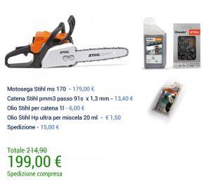 SUPER PROMOZIONE Motosega Stihl ms 170 + Kit Accessori -0
